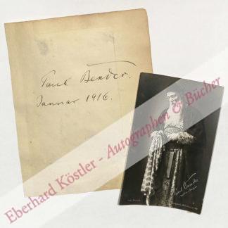 Bender, Paul, Sänger (1875-1947).