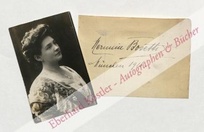 Bosetti, Hermine, Sängerin (1875-1936).
