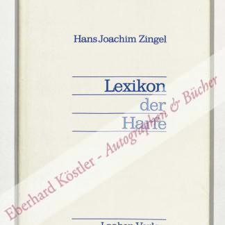 Zingel, Hans Joachim,  .