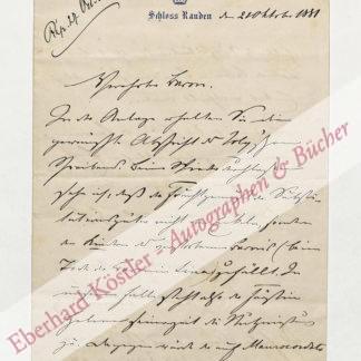 Hohenlohe-Schillingsfürst, Chlodwig Fürst zu, Staatsmann (1819-1901).