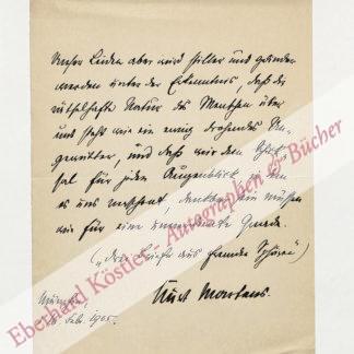 Martens, Kurt, Schriftsteller (1870-1945).