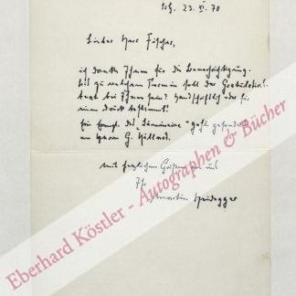 Heidegger, Martin, Philosoph (1889-1976).