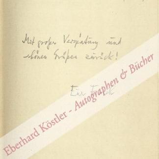 Kästner, Erich, Schriftsteller (1899-1974).