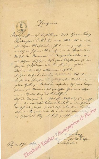 Smetana, Friedrich (Bedrich), Komponist (1824-1884).