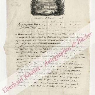 Hammer-Purgstall, Joseph von, Orientalist, Dichter und Historiker (1774-1856).