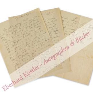 Kirchner, Ernst Ludwig, Maler und Graphiker (1880-1938).