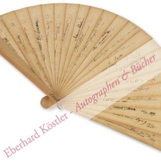 Brahms -  Autographenfächer -,  .