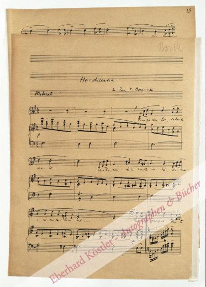 Borgovan, Ion V.,, Komponist und Arzt (1889-1970).