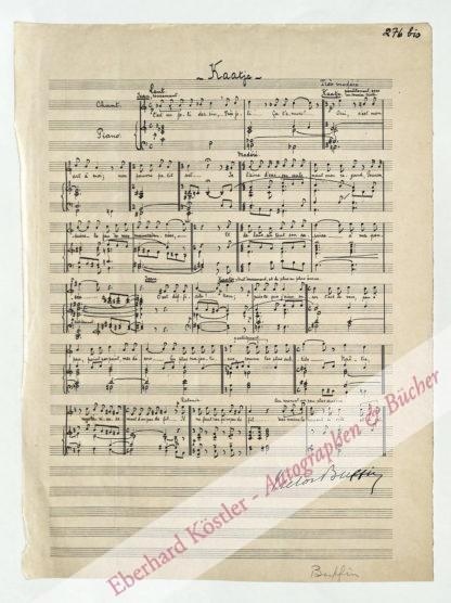 Buffin de Chosal, Victor, Komponist (1867-1953).
