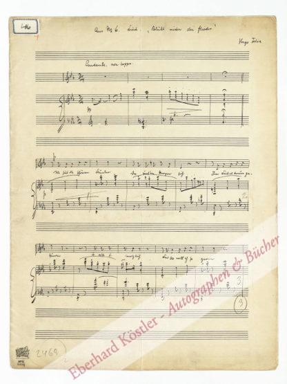 Felix, Hugo (eig. Hugo Felix Haymann), Komponist (1866-1934).