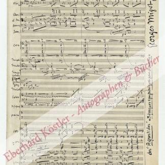 Migot, Georges, Komponist (1891-1976).