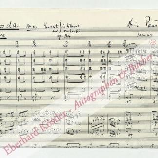 Pauels, Heinz, Komponist (1908-1985).