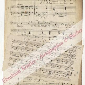 Scharrer, August, Komponist und Dirigent (1866-1936).