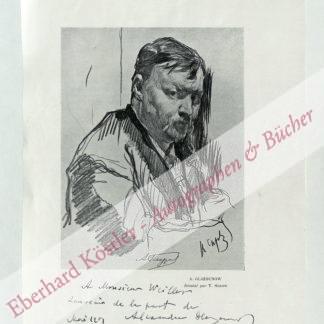 Glasunow [Glazunov] , Alexander [Aleksandr], Komponist (1865-1936).