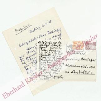 Bergengruen, Werner, Schriftsteller (1892-1964).