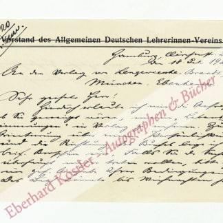 Lange, Helene, Pädagogin und Frauenrechtlerin (1848-1930).