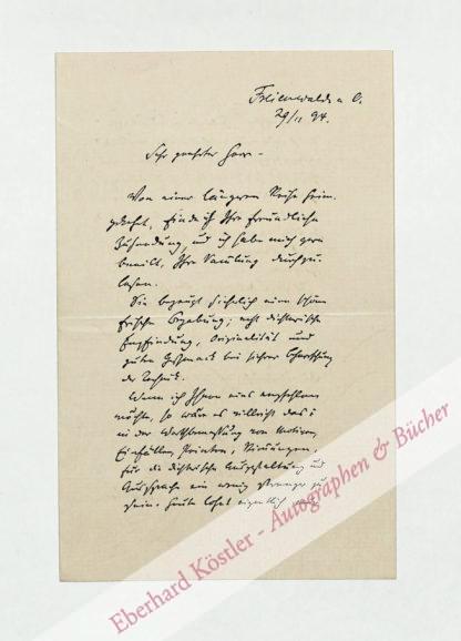 """Blüthgen, Victor, Schriftsteller, Schriftleiter der """"Gartenlaube"""" (1844-1920)."""