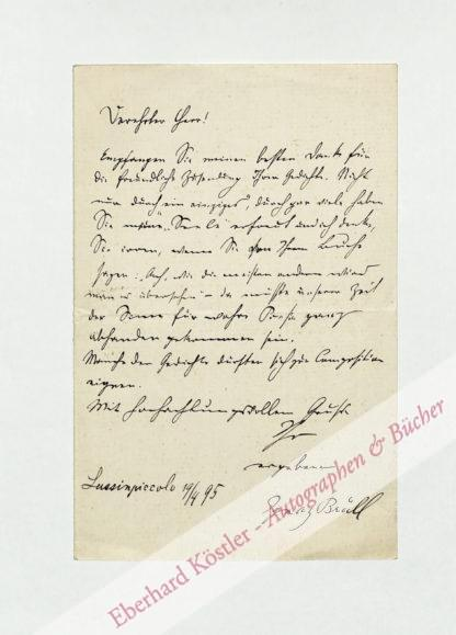 Brüll, Ignaz, Komponist (1846-1907).