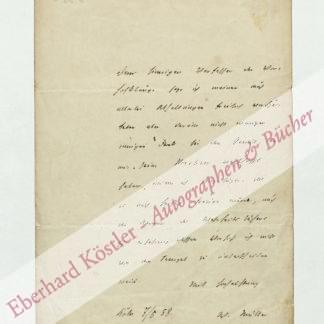 Müller von Königswinter, Wolfgang, Schriftsteller und Arzt (1816-1873).