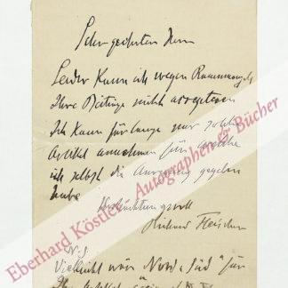 Fleischer, Richard, Herausgeber der Deutschen Revue (1849-1937).