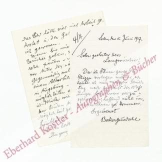 Becker-Gundahl, Carl Johann, Maler und Zeichner (1856-1925).