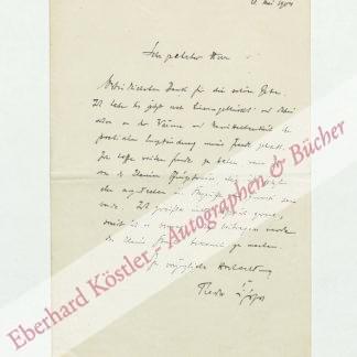 Lipps, Theodor, Philosoph und Psychologe (1851-1914).