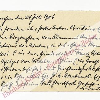 Brentano, Lujo, Nationalökonom (1844-1931).