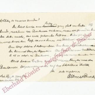 Penck, Albrecht, Geograph und Geologe (1858-1945).