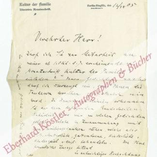 Pudor, Heinrich, Schriftsteller (1865-1943).