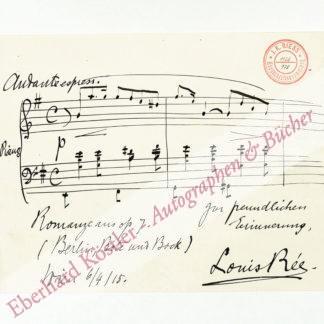 Rée, Louis, Komponist und Pianist (1861-1939).