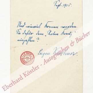 Kirchner, Eugen, Maler (1865-1938).