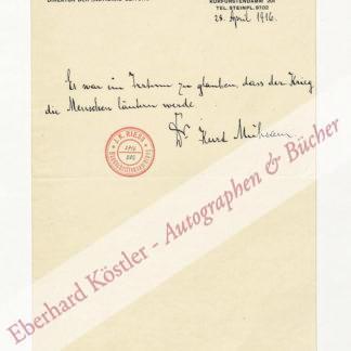 Mühsam, Kurt, Schriftsteller (1882-1931).