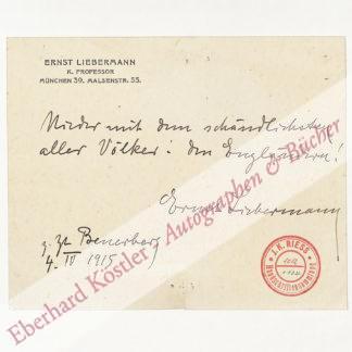 Liebermann, Ernst, Maler (1869-1960).