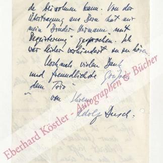 Busch, Adolf, Violinist und Komponist (1891-1952).