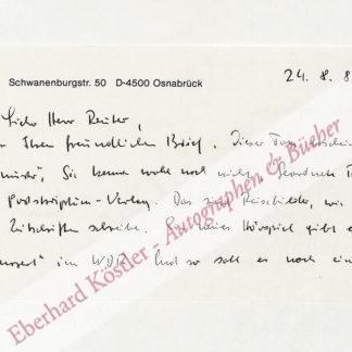 Loest, Erich, Schriftsteller (1926-2013).