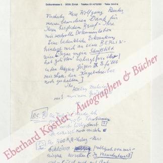 Mehring, Walter, Schriftsteller (1896-1981).