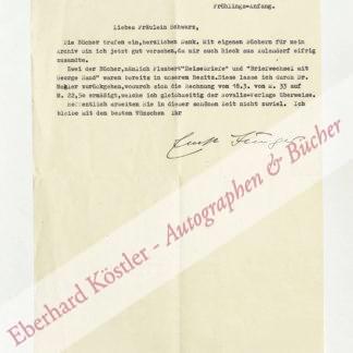Jünger, Ernst, Schriftsteller (1895-1998).