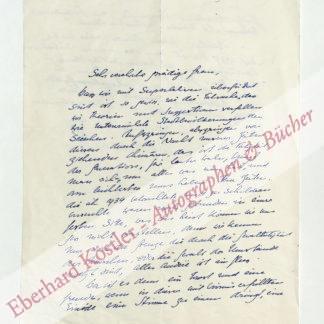 Burckhardt, Carl Jacob, Historiker und Diplomat (1891-1974).
