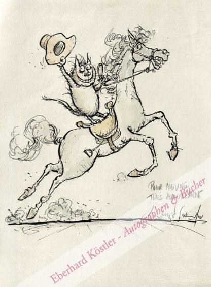 Searle, Ronald, Grafiker und Zeichner (1920-2011).