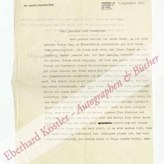 Ebermayer, Erich, Schriftsteller (1900-1970).