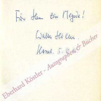 Höllerer, Walter, Schriftsteller und Literaturwissenschaftler (1922-2003).