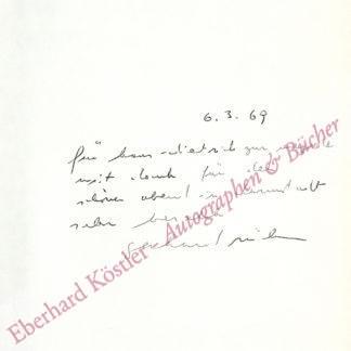 Rühm, Gerhard, Schriftsteller und Komponist (geb. 1930).