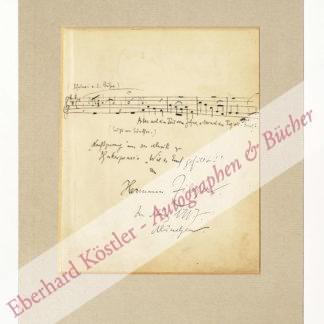 Zilcher, Hermann, Komponist (1881-1948).