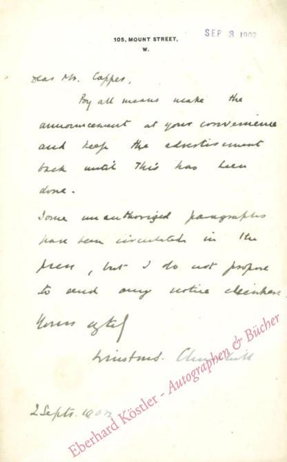 Churchill, Winston, Britischer Premierminister (1874-1965).
