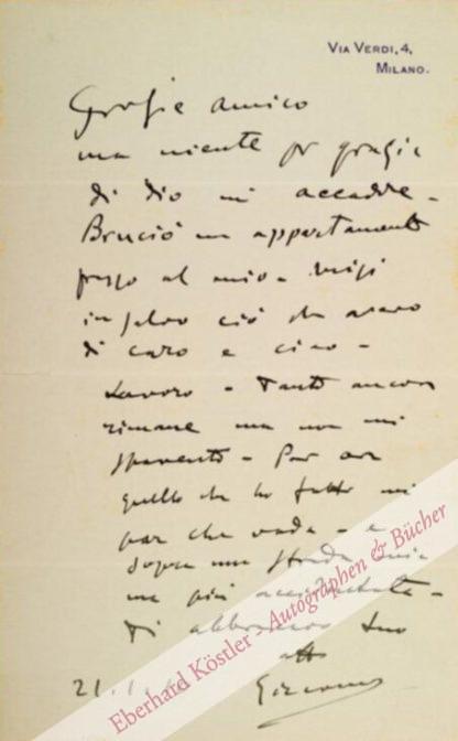 Puccini, Giacomo, Komponist (1858-1924).