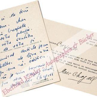 Chagall, Marc, Maler (1887-1985).