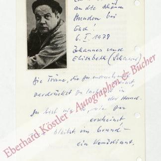 Schauer, Johannes, Schauspieler (1918-1992).