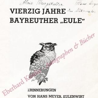 Bayreuth -  Meyer, Hans,  .