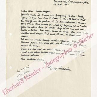 Hildesheimer, Wolfgang, Schriftsteller (1916-1991).