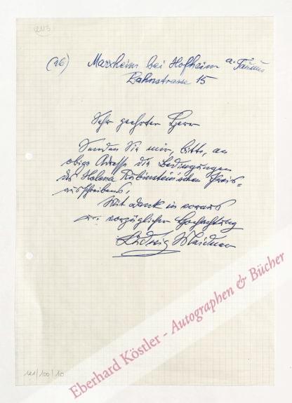 Meidner, Ludwig, Maler und Graphiker (1884-1966).